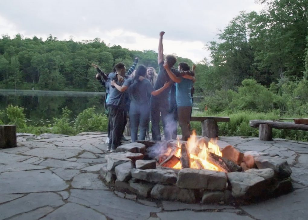 Peach campfire treats