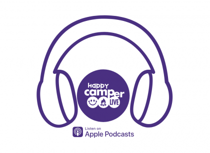 headphones and podcast info