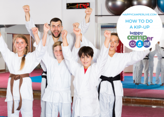 kids in taekwondo uniforms