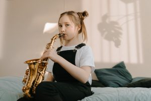 girl playing instrument