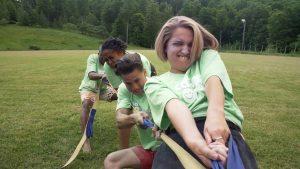 kids playing tug of war, social emotional learning