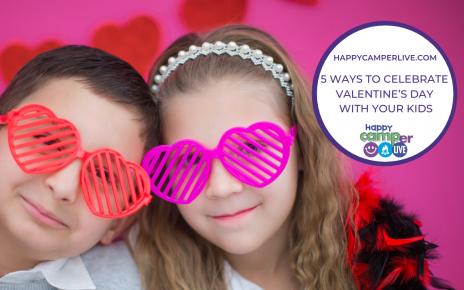 kids wearing heart glasses