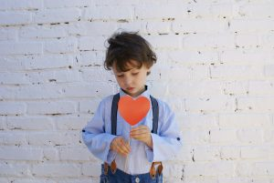 kid with heart