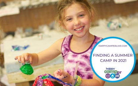 child making crafts at summer camp