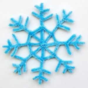 snowflake craft made of pipe cleaners