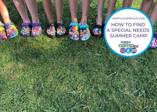 kids wearing Crocs standing in a line.