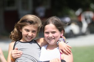 two girls at summer camp