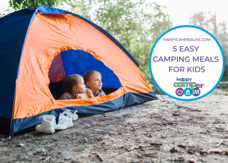 2 kids in a tent