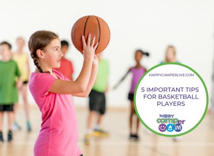 child shooting a basketball