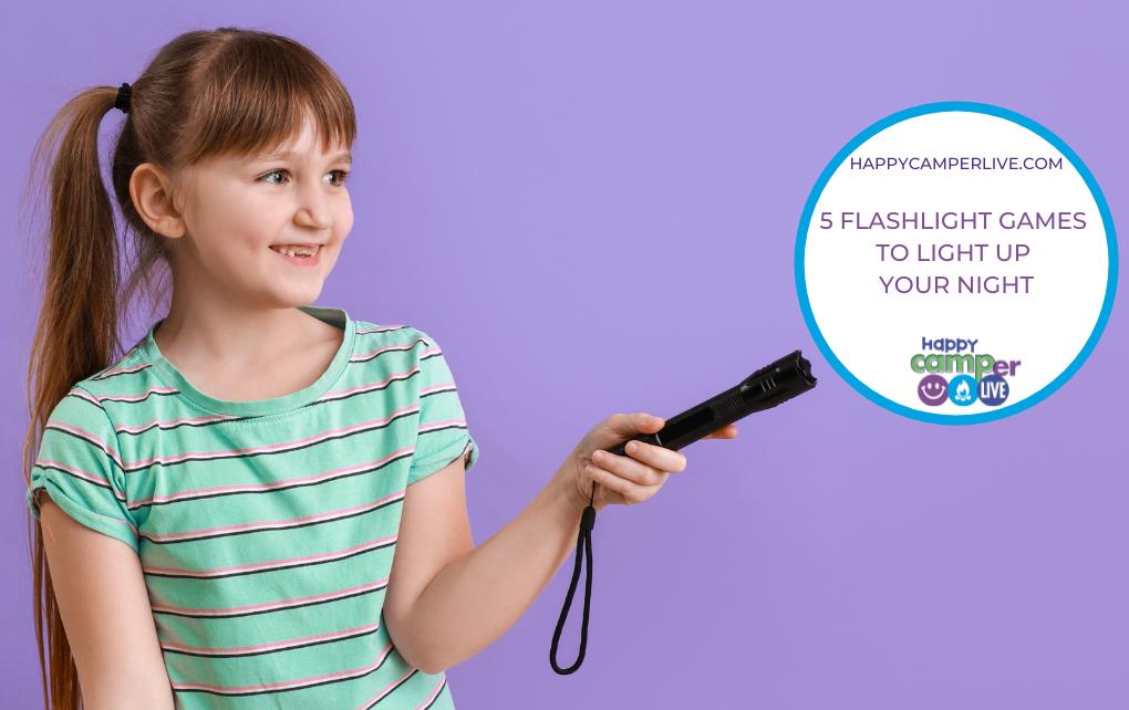 girl holding flashlight