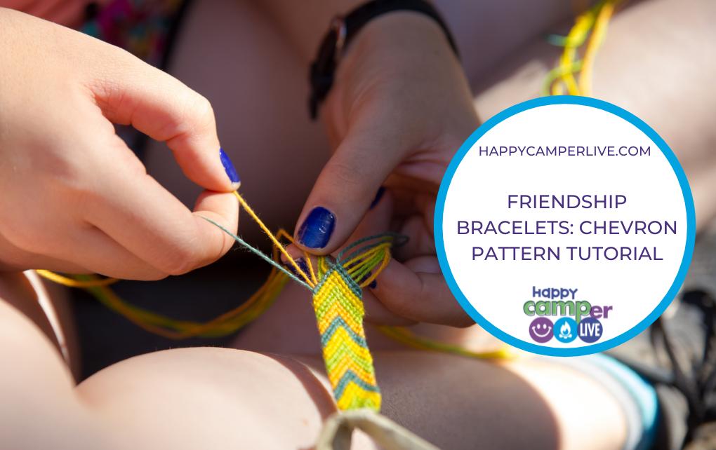 hands tying a friendship bracelet