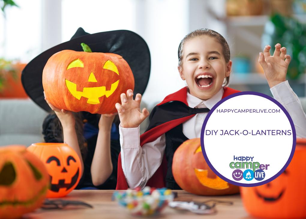 kid holding pumpkin